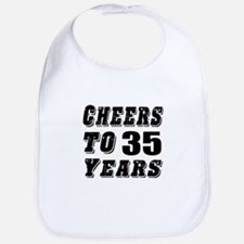 Cheers To 35 Bib