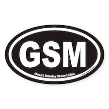Great Smoky Mountains GSM Euro Oval Sticker v2