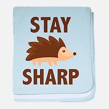 Stay Sharp baby blanket