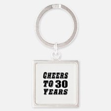 Cheers To 30 Square Keychain