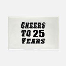 Cheers To 25 Rectangle Magnet