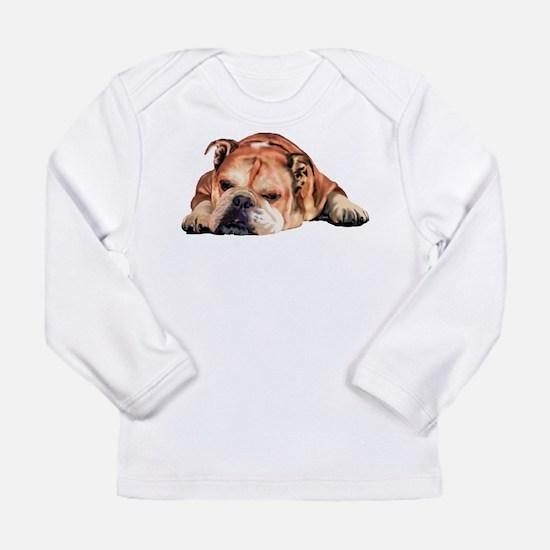 English Bulldog Art Portrait Long Sleeve T-Shirt