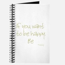 If you want to be happy, be Journal