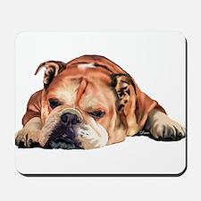 English Bulldog Art Portrait Mousepad