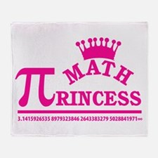 Math Princess Throw Blanket