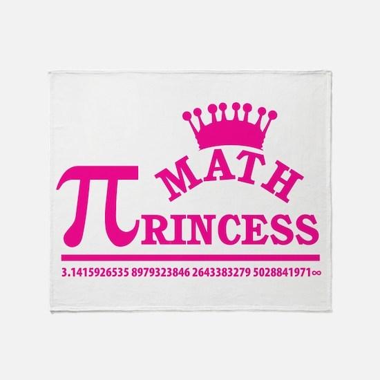 Math Princess Throw Blanket
