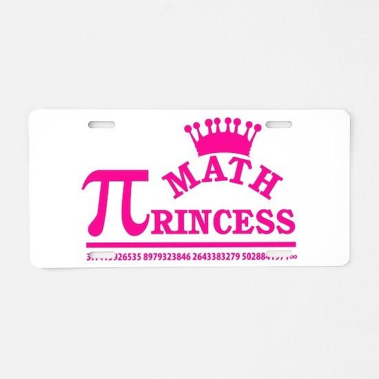 Math Princess Aluminum License Plate