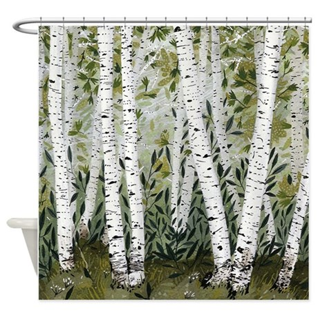 Charming Birch Trees Shower Curtain
