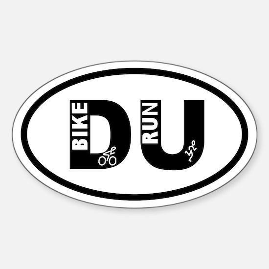 Duathlon Bike Run Oval Decal