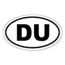 Basic Duathlon Oval Decal