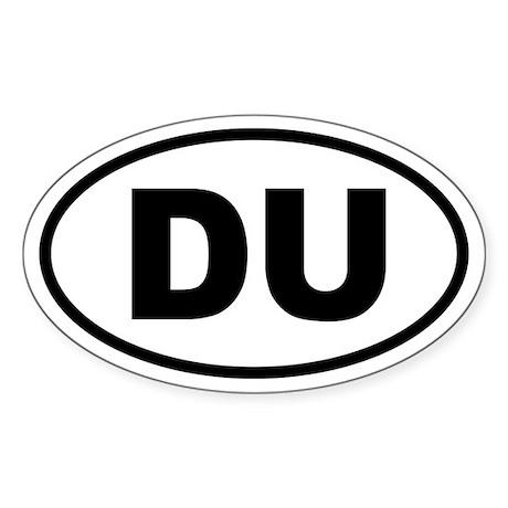 Basic Duathlon Oval Sticker
