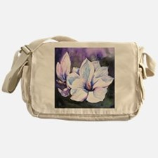 Magnolia Painting Messenger Bag