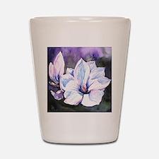 Magnolia Painting Shot Glass