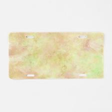 Citron Zest Watercolor Aluminum License Plate