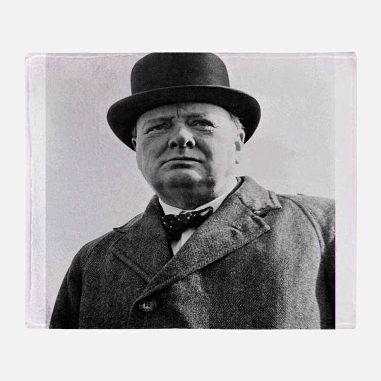 Winston Churchill Throw Blanket