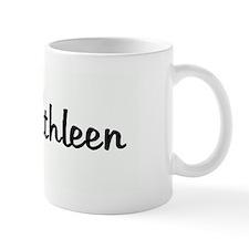 Team Kathleen pink ribbon Mug