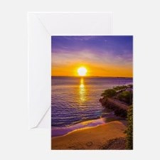 Unique Hawaii sunset Greeting Card