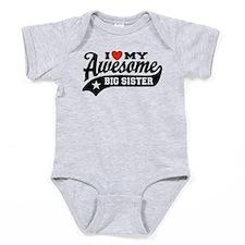 Cute I love my big sister ones Baby Bodysuit