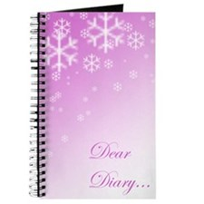 """Dear Diary"" - Snowflakes (pink)"