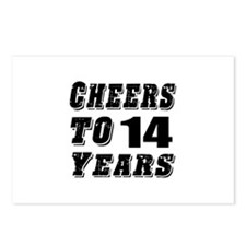 Cheers To 14 Postcards (Package of 8)