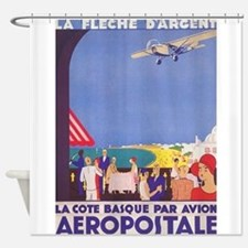 Aeropostale, French Airmail Vintage Shower Curtain