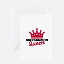 Backgammon Queen Greeting Card