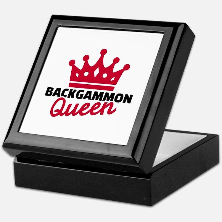Backgammon Queen Keepsake Box
