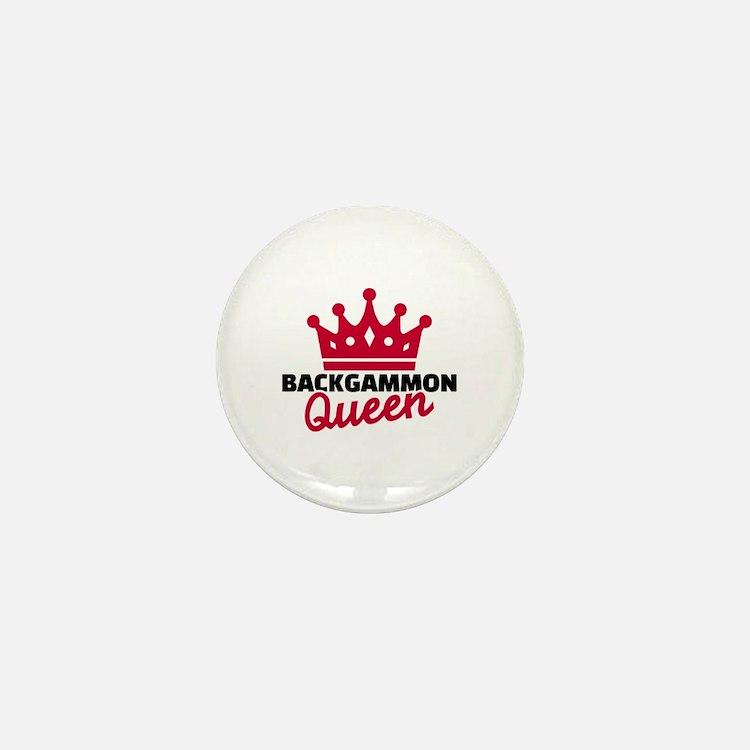 Backgammon Queen Mini Button
