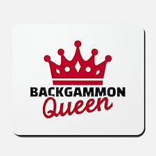 Backgammon Queen Mousepad