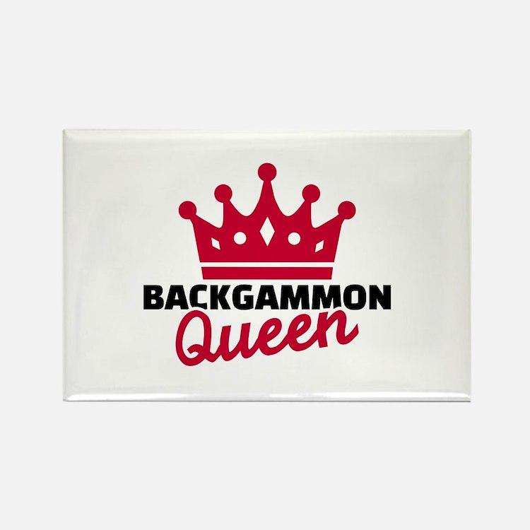 Backgammon Queen Rectangle Magnet