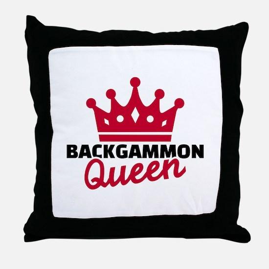 Backgammon Queen Throw Pillow