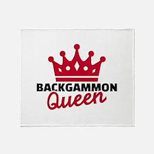 Backgammon Queen Throw Blanket