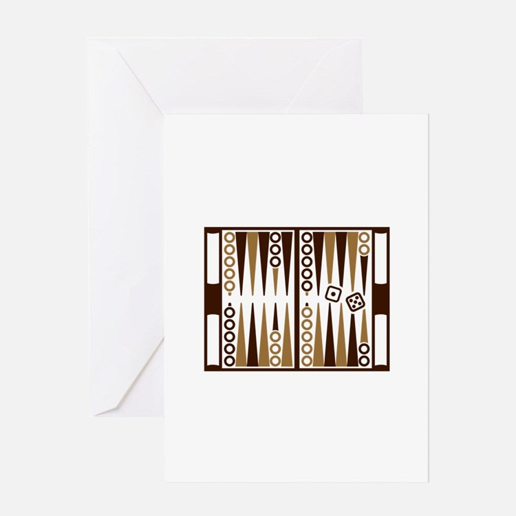 Backgammon board Greeting Card