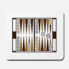 Backgammon board Mousepad
