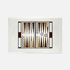 Backgammon board Rectangle Magnet