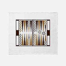 Backgammon board Throw Blanket