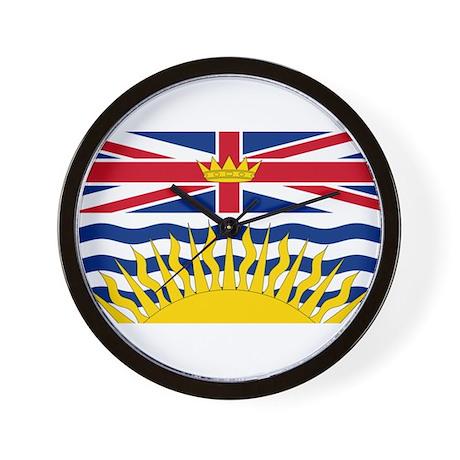 BC Flag Wall Clock