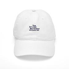 November 8th Birthday Baseball Cap