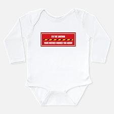 Cute Humorous lineman Long Sleeve Infant Bodysuit