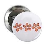 live, laugh, love flowers (orange) Button