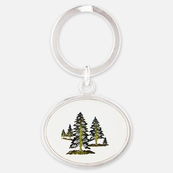Cute Nature Oval Keychain