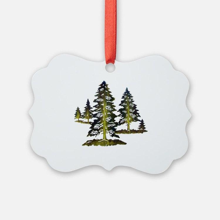 Cute Pine trees Ornament
