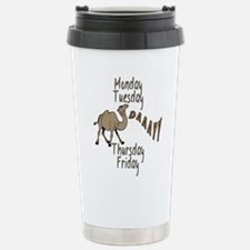 Cute Camel and hump day Travel Mug