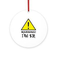 Warning I'm 13 Ornament (Round)