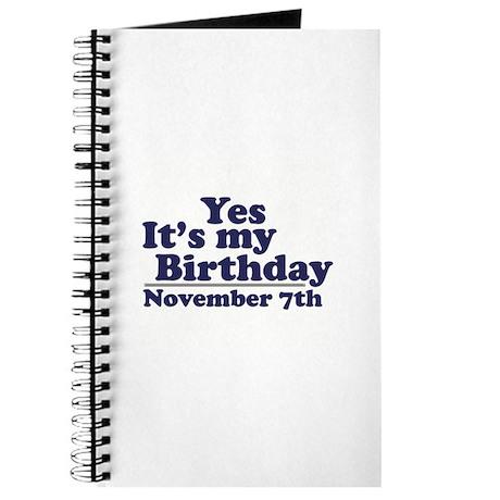 November 7th Birthday Journal