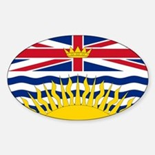 BC Flag Oval Decal