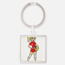 VOLLEY GIRL RED BLONDE Keychains