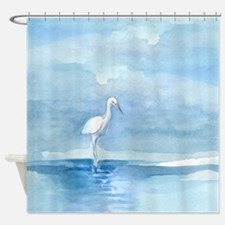Egret-duvet Shower Curtain