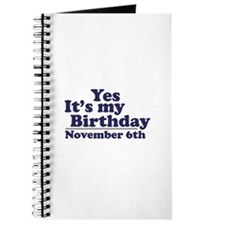 November 6th Birthday Journal