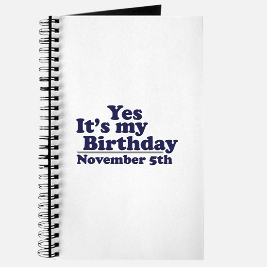 November 5th Birthday Journal